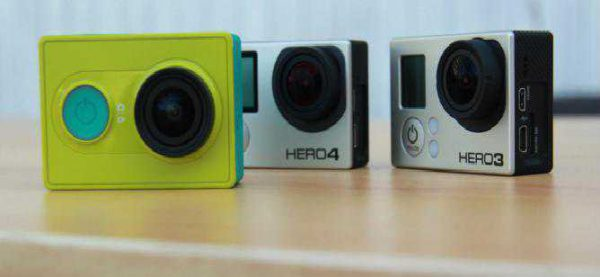 Gizlogic Xiaomi Yi Action Camera comparatif