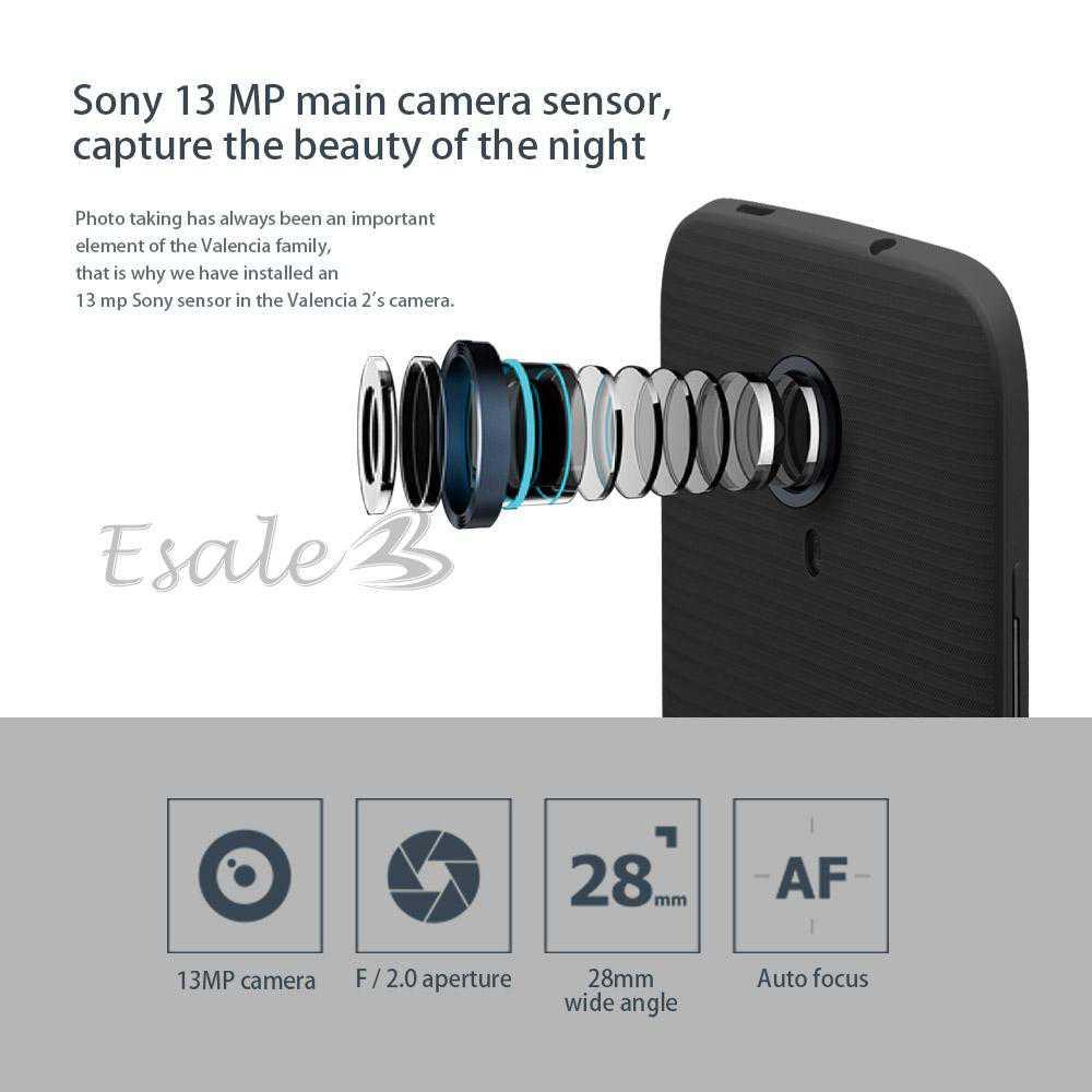 L'appareil photo principal du Doogee Valencia 2 Y100 Pro est signé Sony et promet de très belles qualités d'images