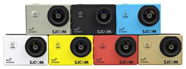La SJCAM X1000 est disponible en 7 différentes couleurs