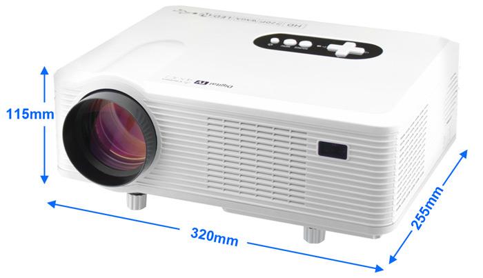 Les dimensions du projecteur Excelvan CL720D