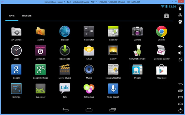 Émulateur Android Genymotion