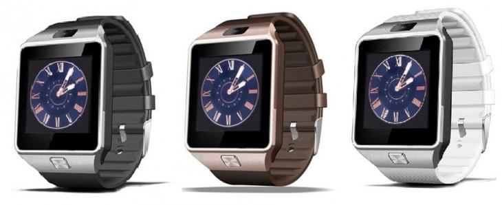 Les couleurs de la Smartwatch DZ09