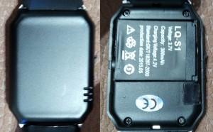 Partie arrière de la DZ09, une smartwatch chinoise bon marché
