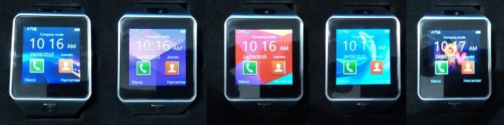 La Smartwatch DZ09 dispose de cinq différents thèmes