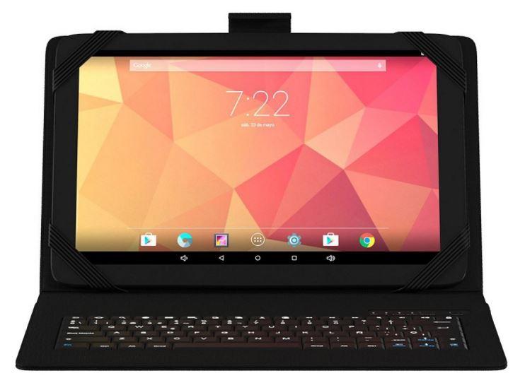 La tablette Onix 10.1 QC est vendue avec une couverture et un clavier bluetooth ; tout-en-un