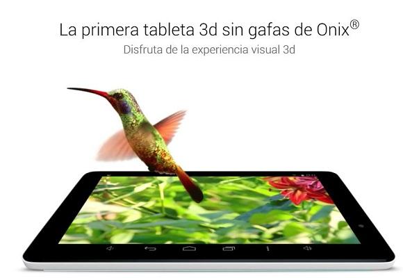 Un tablette Onix plus complète. On peut profiter de contenus 3D sur son écran de 8 pouces