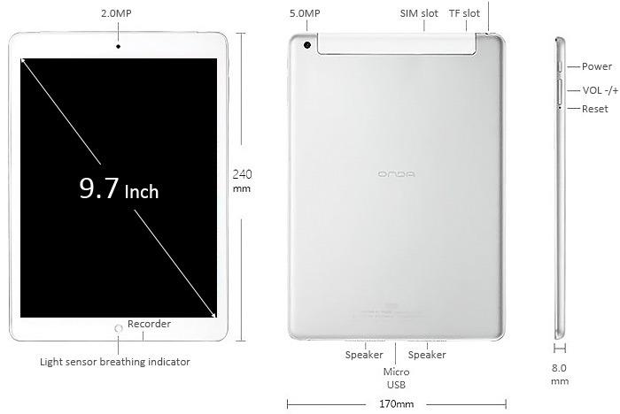 Tablette Dual Boot Onda V919