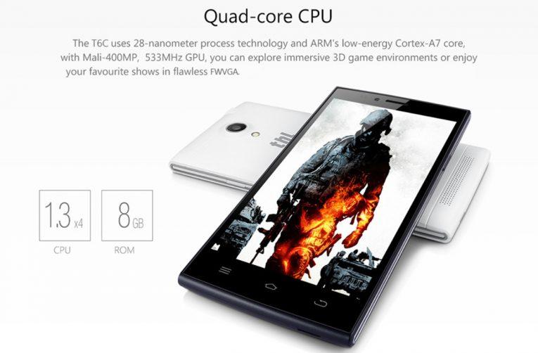 Le THL T6C est un smartphone ultrafin, construit avec un design sobre