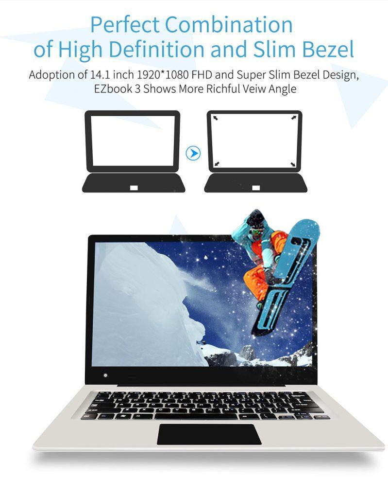 Jumper EZBook 3 écran