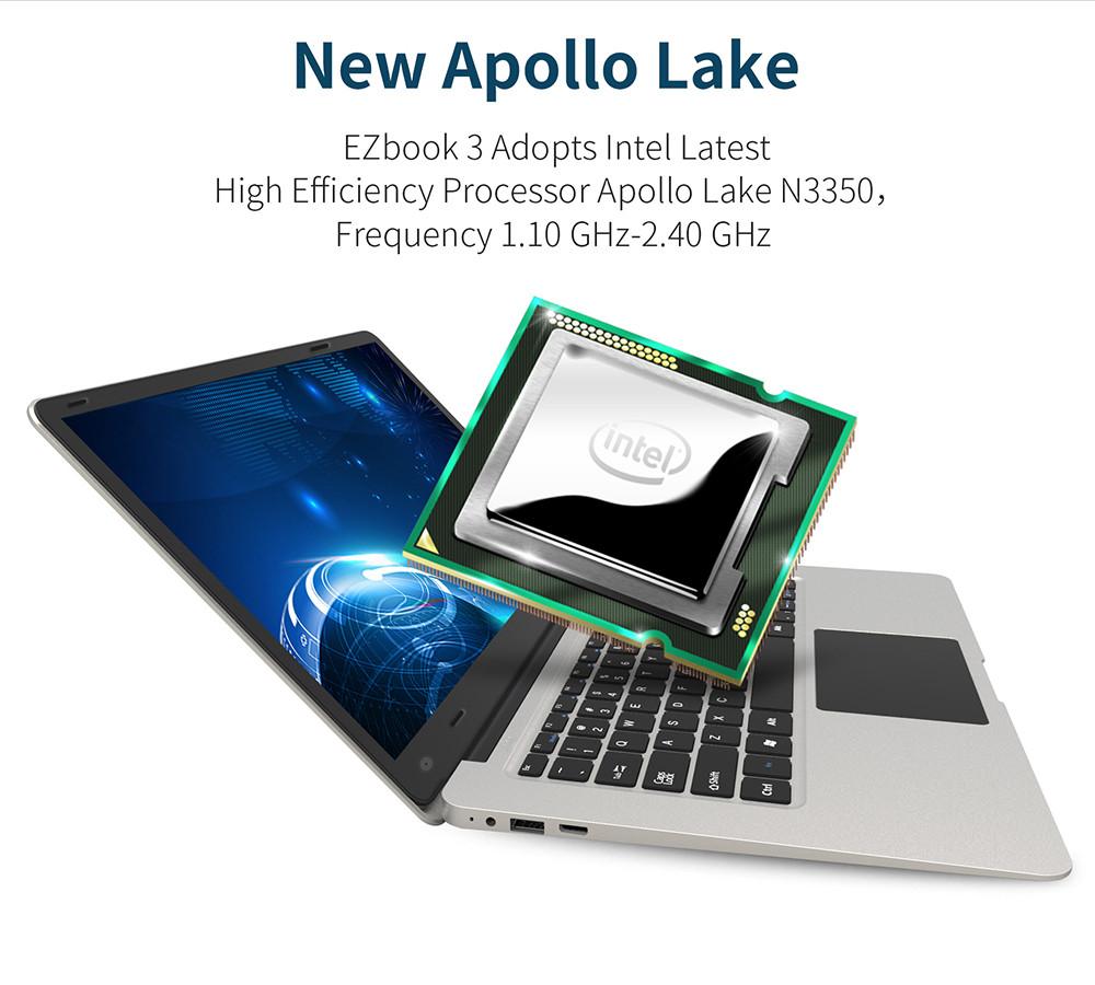 Jumper EZBook 3 processeur