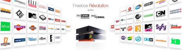 Freebox Révolution avec TV by CANAL  - freebox revolution v7