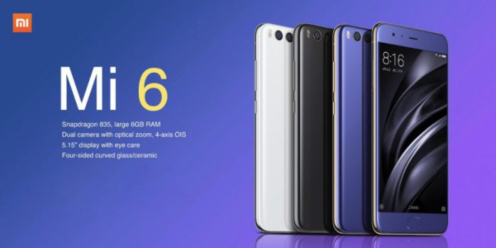 Vente flash sur le Xiaomi Mi 6