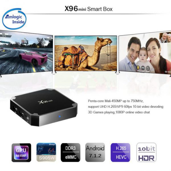 Box TV X96mini Android Amlogic